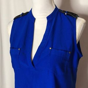 Cache Sleeveless High Lo Tunic Size M